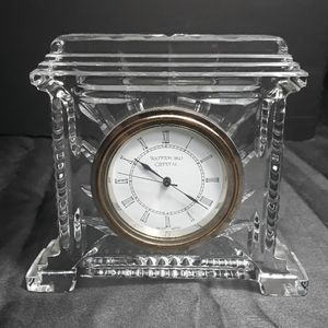 Waterford crystal clock with Waterford watermark
